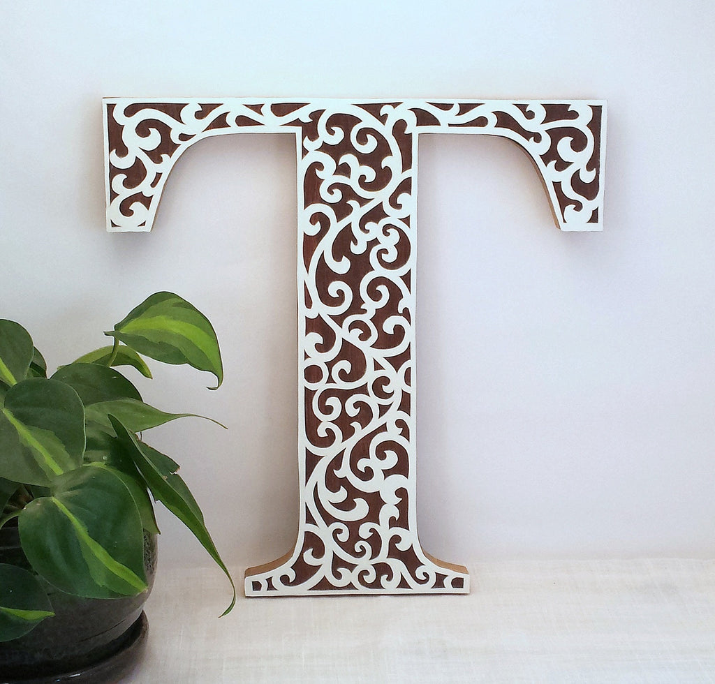 Fabulous letter wall art decor - Thinkpawsitive.co CQ21