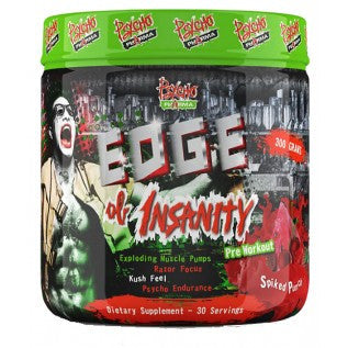 PSYCHO PHARM EDGE OF INSANITY PREWORKOUT - Fitness Quest Nutrition