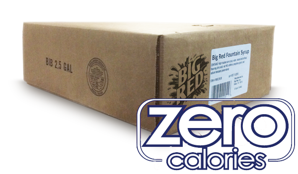 Big Red ZERO Calories Bag-In-Box Fountain Syrup (1 x 2.5 gal)