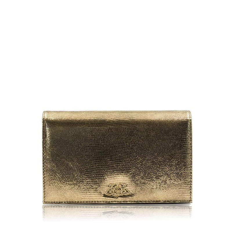 lolaandlo clutch KIRA METAL GOLD