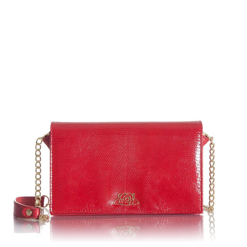 lolaandlo clutch KIRA RED PASSION