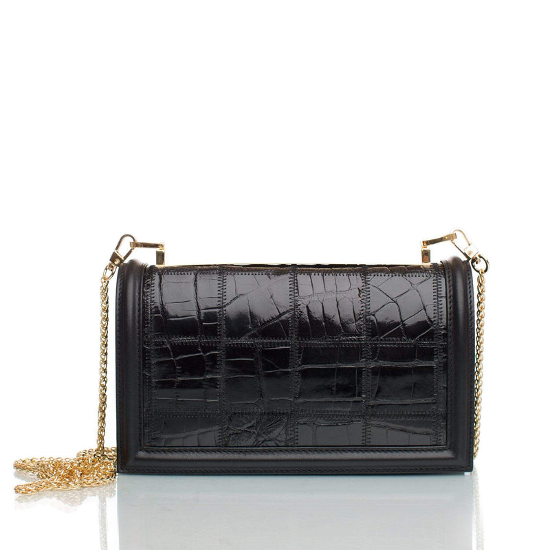 lolaandlo clutch TANIA SHINY BLACK