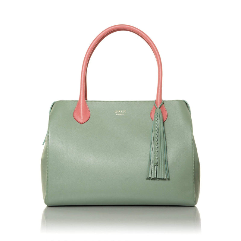 lolaandlo handbags MAGDALEIN SAGE WITH ZIPPER CLOSURE