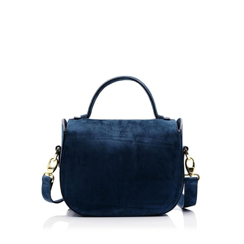 lolaandlo shoulder bag ERIN BLUE SUEDE