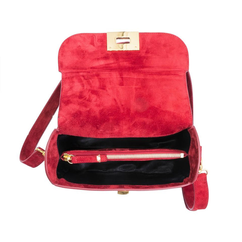lolaandlo shoulder bag ERIN RED SUEDE