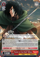 """Sunset on Your Back"" Mikasa"