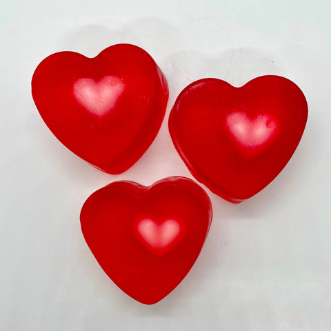 valentine - two hearts soap