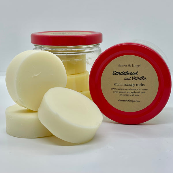 massage bar - sandalwood vanilla (3 disc)