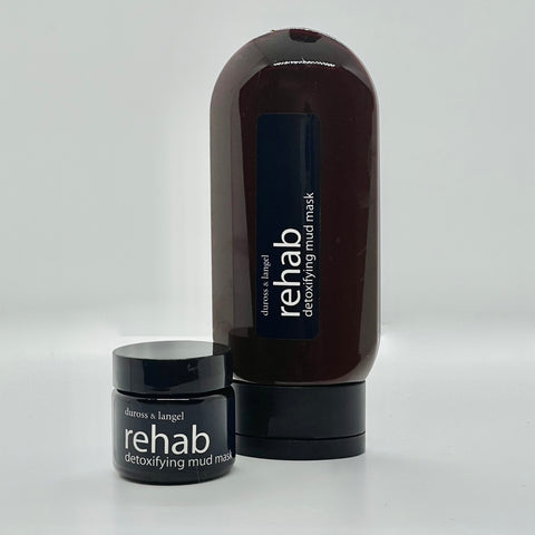 rehab mud mask - detoxifying charcoal