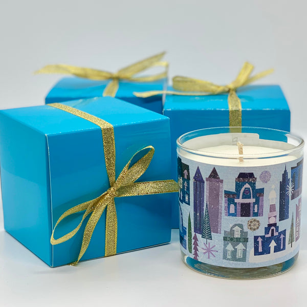 Holiday Scene Candle -Driftwood + Sage