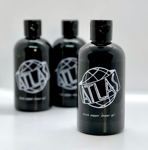 atlas black pepper shower gel
