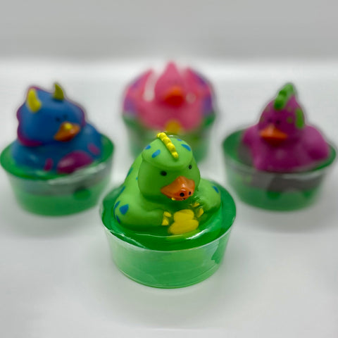 kid's dinosaur duck soap
