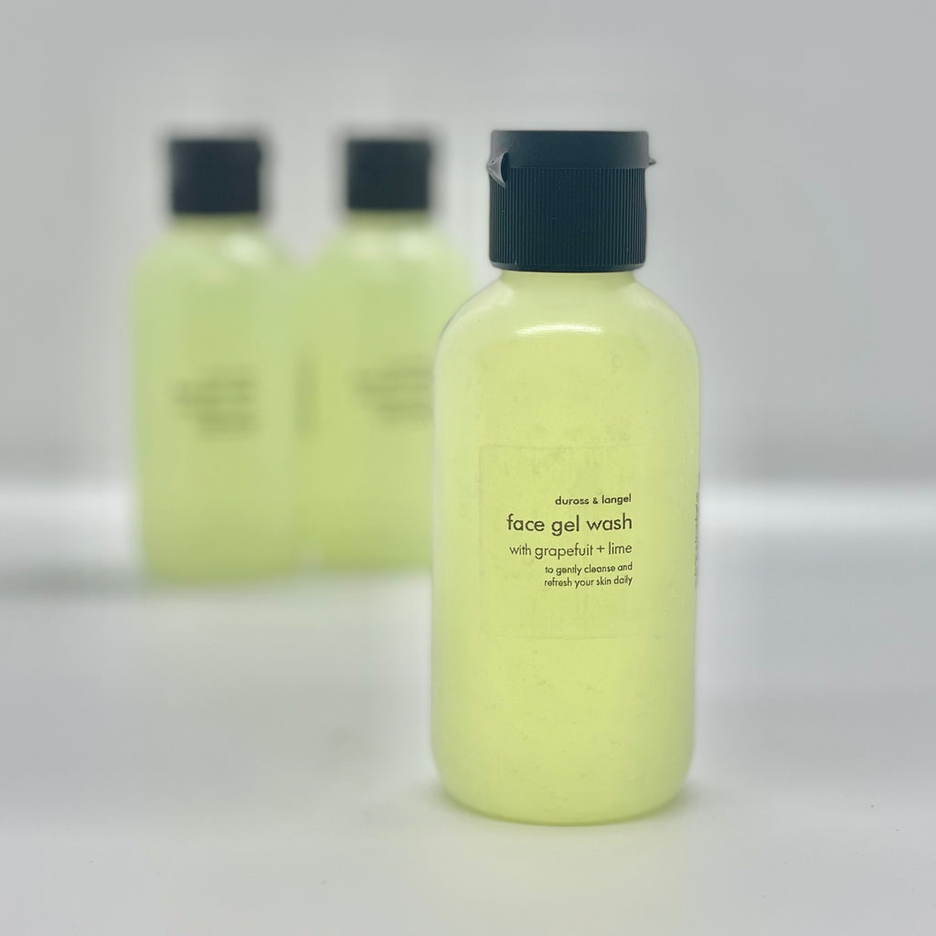 face gel wash - grapefruit + lime