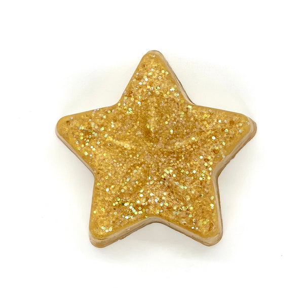 gold glitter holiday soap