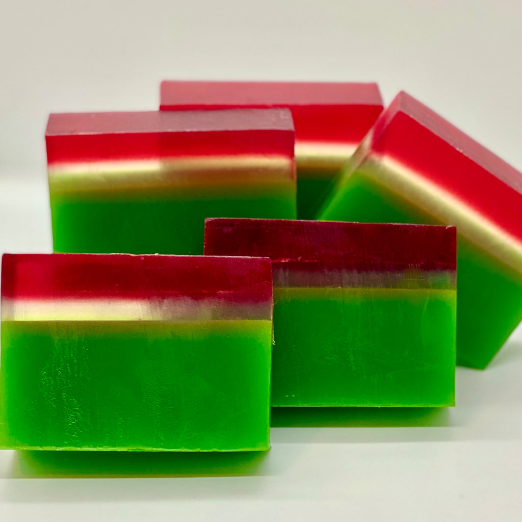 christmas hibiscus soap