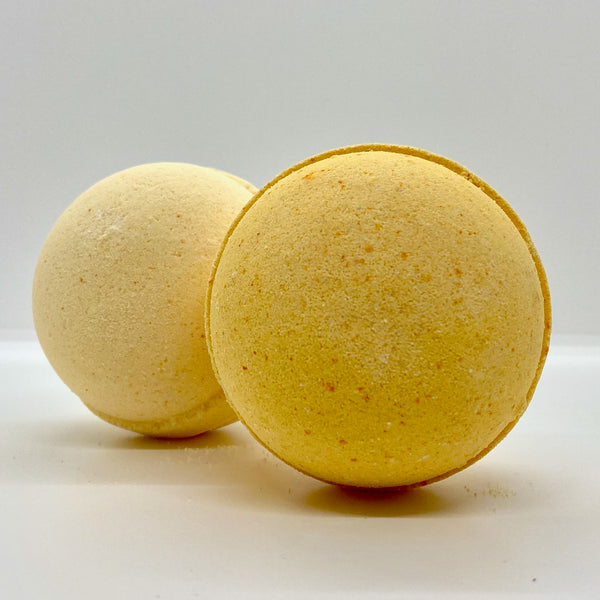 yellow pear bath bomb