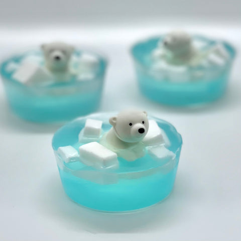 kid's polar bear soap