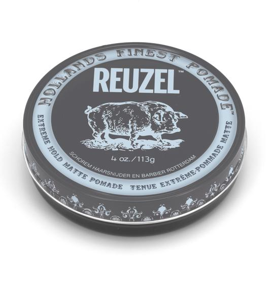 reuzel clay matte pomade - extreme hold (grey)