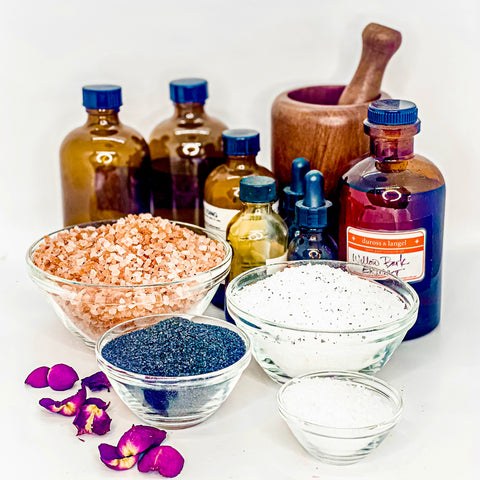 custom build-your-own aromatherapy bath salts