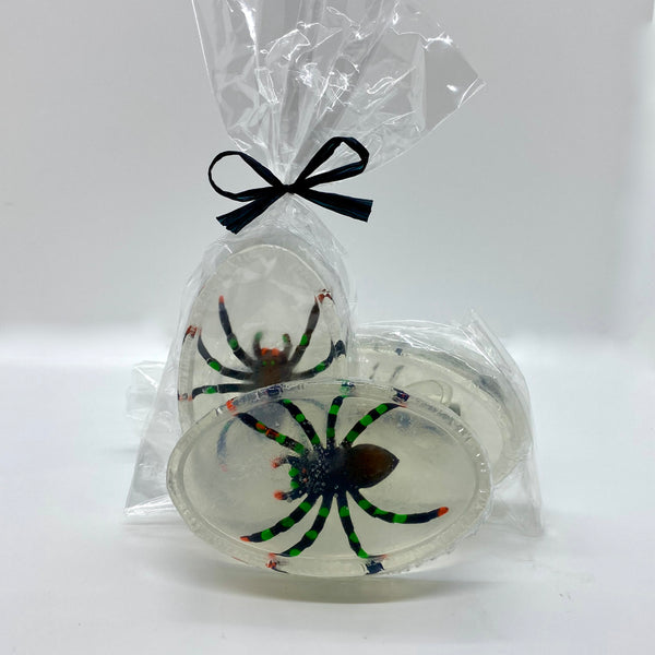 creepy spider soap
