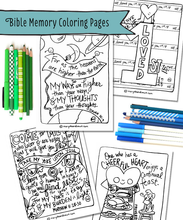 Free Bible Drawing Pages
