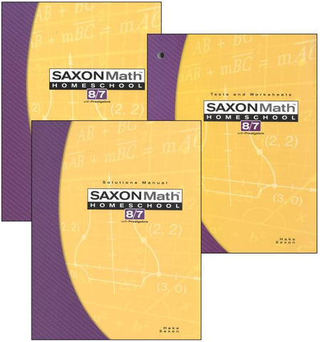 Saxon Math 8/7 Complete Homeschool Kit - Yellow House Book Rental