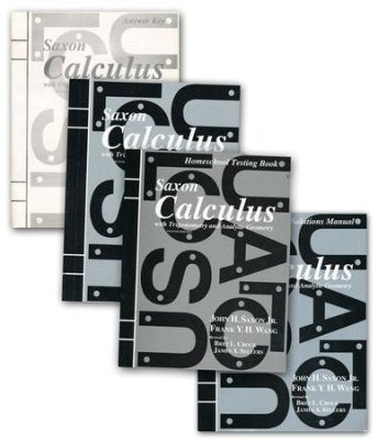 Saxon Calculus Homeschool Kit with Solutions Manual 2nd Edition