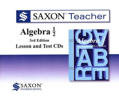 Dive Into Math Saxon Algebra 1/2 3rd Edition CD-ROM