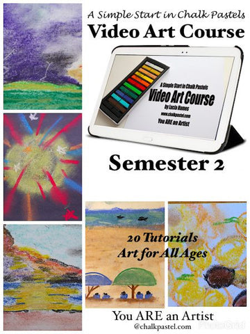 A SIMPLE START IN CHALK PASTELS VIDEO ART COURSE (SEMESTER 2) - Yellow House Book Rental