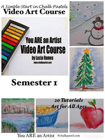 A SIMPLE START IN CHALK PASTELS VIDEO ART COURSE (SEMESTER 1) - Yellow House Book Rental