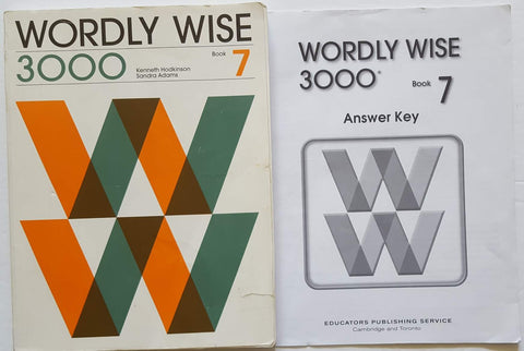 Wordly Wise 3000 Book 7 and Answer Key