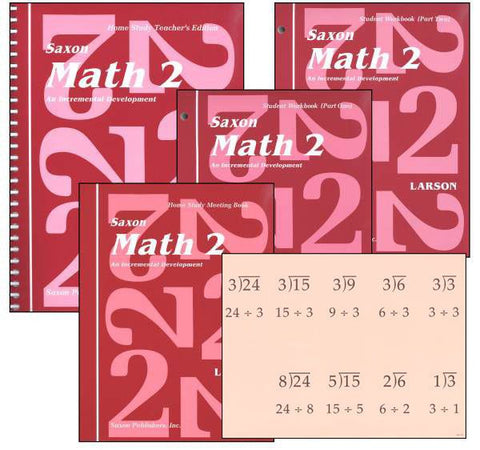 Saxon Math 2 Kit - Yellow House Book Rental