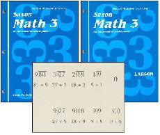 Saxon Math 3 Workbook Set and Fact Cards - Yellow House Book Rental