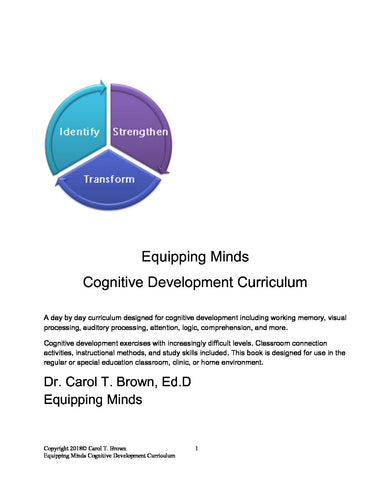 NEW 2018 Equipping Minds Cognitive Development Curriculum