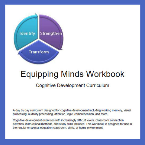 Equipping Minds Cognitive Development Workbook & Training DVD - Yellow House Book Rental