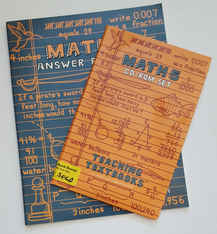 Math 5 Teaching Textbooks CD set and Answer Key