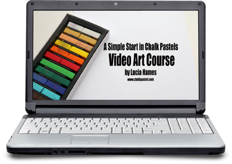 Chalk Pastel Video Art Course - Yellow House Book Rental
