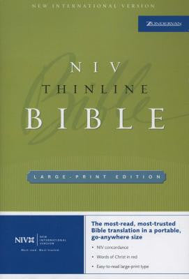 NIV Thinline Bible- Large Print Edition - Yellow House Book Rental