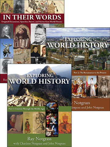 Exploring World History Curriculum Package - Yellow House Book Rental