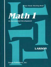 Saxon Math 1 Meeting Book - Yellow House Book Rental