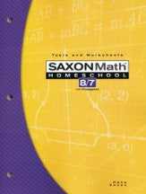 Saxon Math 8/7 Tests and Worksheets, 3rd Edition - Yellow House Book Rental