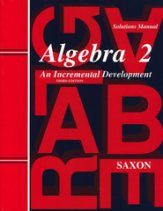 Saxon Math Algebra 2 Solutions Manual 3rd Edition - Yellow House Book Rental