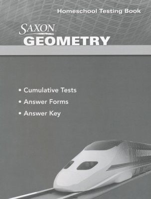 Saxon Math Geometry Answer Key and Test Booklet 1st Edition - Yellow House Book Rental