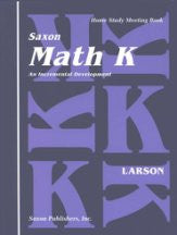 Saxon Math K Meeting Book - Yellow House Book Rental