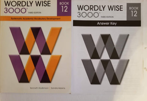 Wordly Wise 3000 Book 12 and Answer Key 3rd edition.