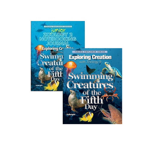 Exploring Creation with Zoology 2: Swimming Creatures of the Fifth Day Jr Bundle - Yellow House Book Rental