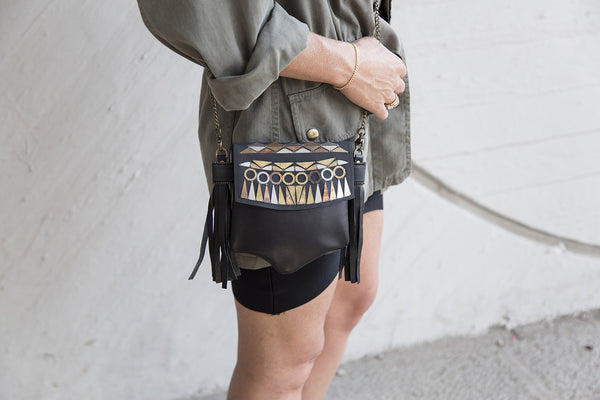 Dark Black Clutch // 313
