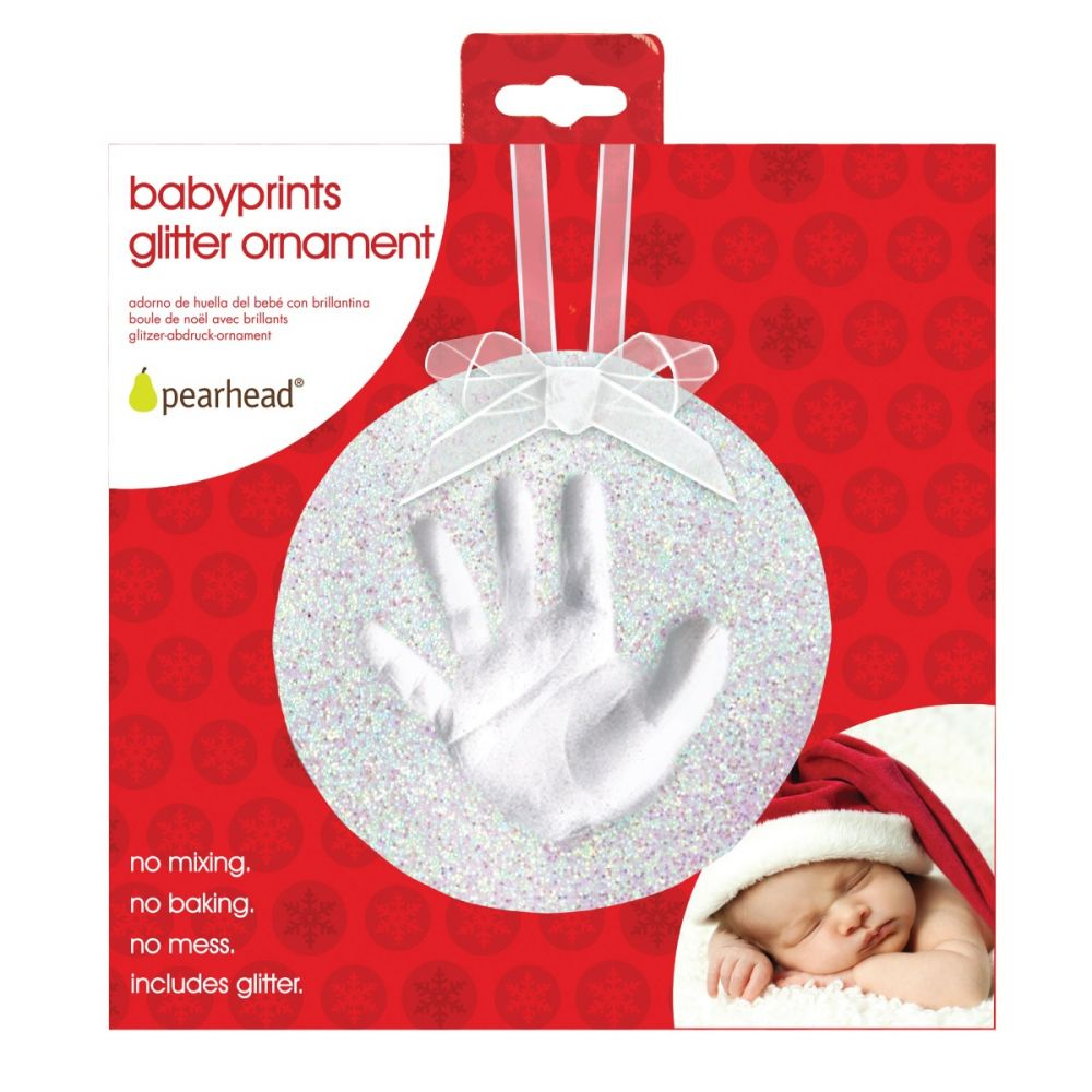 Pearhead Babyprints Glitter Ornament