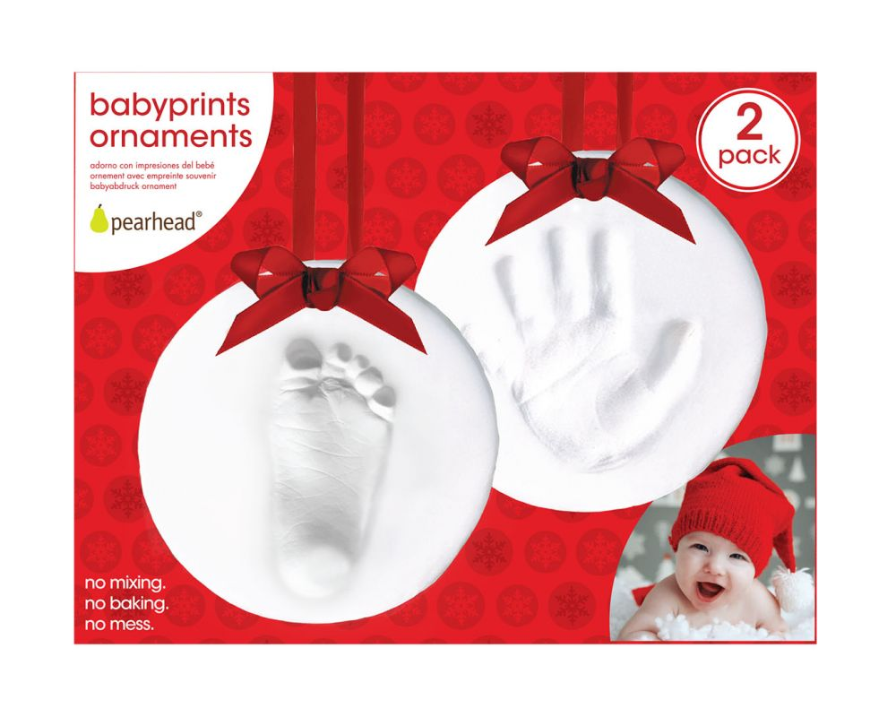 Pearhead Babyprints Ornaments 2pk