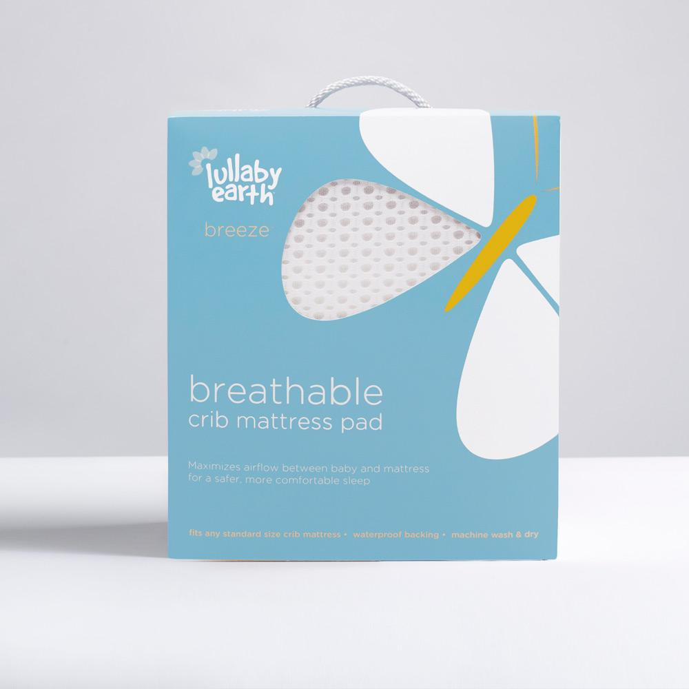 Lullaby Earth Breeze Breathable Crib Mattress Pad